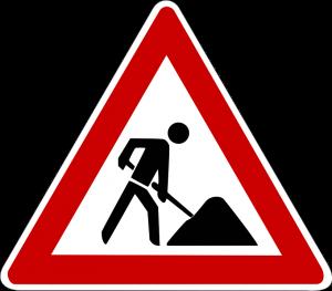 lavori stradali cartello
