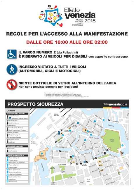 Effetto Venezia 2018 manifesto del decalogo per la sicurezza