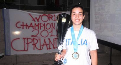 Festa a sorpresa per Irene Cipriani campionessa mondiale di Kickboxing