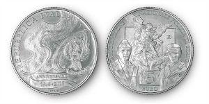 Polizia Coniata moneta d'argento per i 50 anni si ANPS