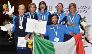 Campionati del Mondo Master Scherma Trionfo per l'italia di sciabola femminile