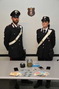 Carabinieri Cecina Arresto e denunce durante attività contro gli stupefacenti.