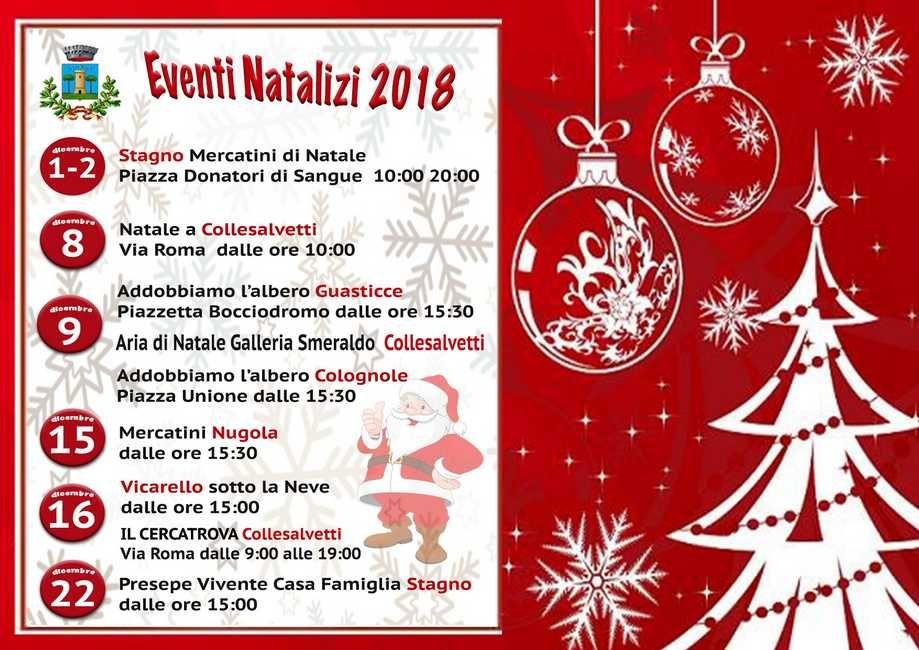 Il Natale a Collesalvetti arriva dal 1° dicembre