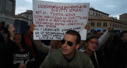 Livorno, contestazioni contro l'apertura della sede della Lega (49)