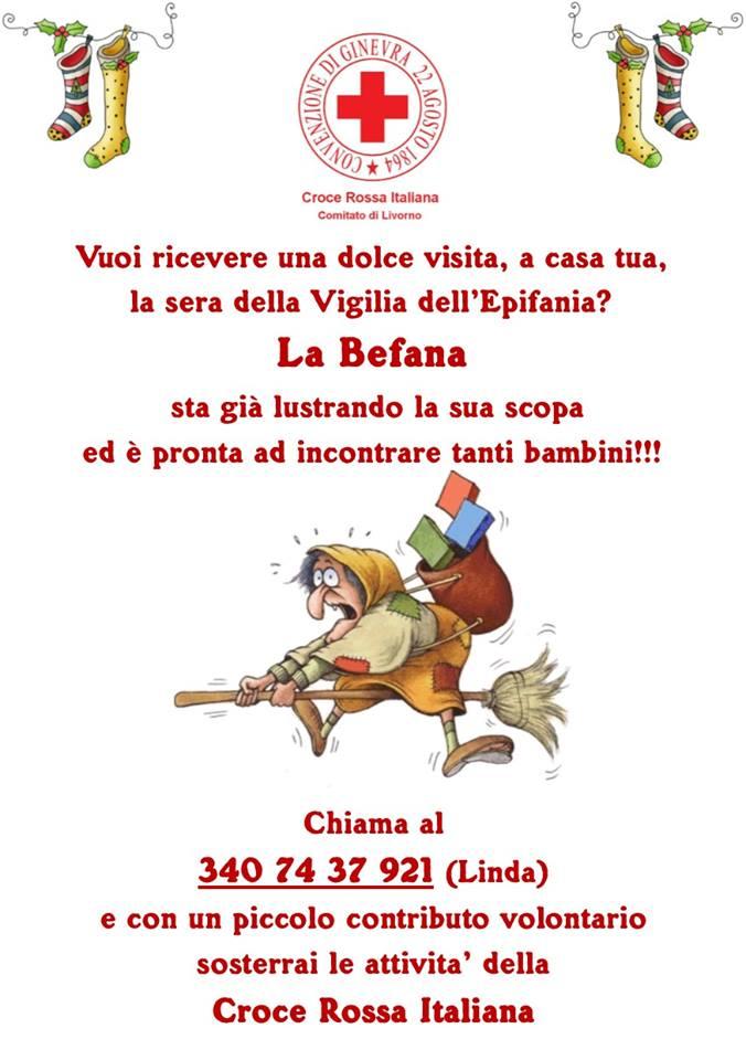 Vuoi La Befana A Casa Chiama La Croce Rossa Livornopress