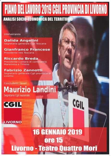 """La Cgil presenta il """"Piano Del Lavoro 2019. Presente anche Landini"""