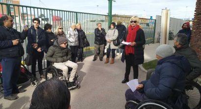 La Fortezza Vechia non accessibile ai disabili, la protesta (3)