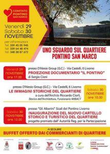 """""""Uno sguardo sul quartiere Pontino San Marco"""" le iniziative di oggi e domani"""