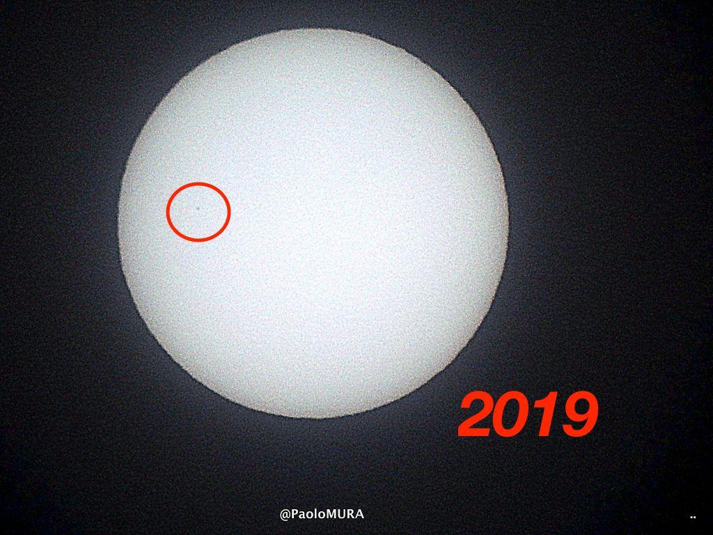 LivornoPress il transito di mercurio sul sole foto Paolo Mura 11 novembre 2019