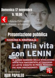 LivornoPress libro la mia vita con Lenin