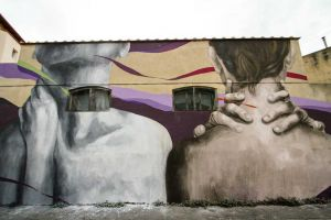Livornopress Il murale di Ligama in via Pompilia
