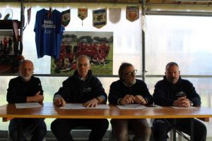 Gadsos-Amatori Rugby rosignano. a sn Rossi, Carugi, Felloni, Colombaioni