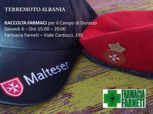 L'Ordine di Malta raccoglie farmaci per i terremotati albanesi