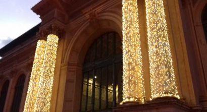 Natale illuminazione e addobbi mercato centrale