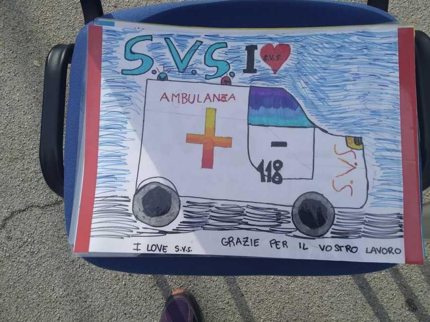 bambini disegni e messaggi per svs