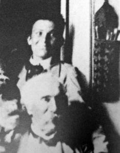 Amedeo Modigliani ragazzino sulle spalle del maestro Fattori