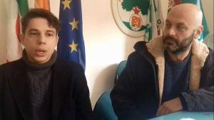 Giulio Profeta Giovani Democratici ed il lsegretario PD Unione Comunale Livorno Federico Mirabelli