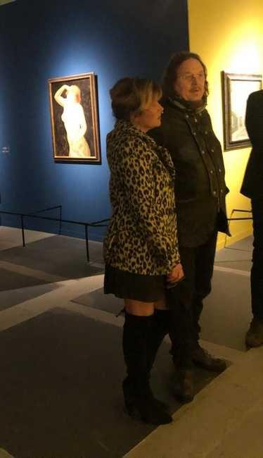 Il cantante Zucchero alla mostra Modigliani e l'avventura di Montparnasse
