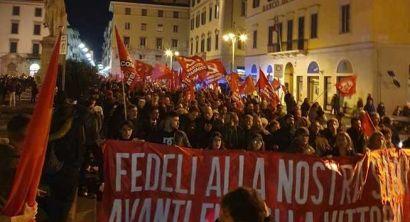Marcia per ricordare la nascita del Partito Comunista (1)