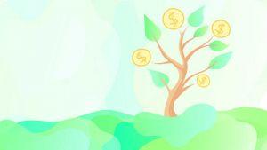 finanza verde albero soldi