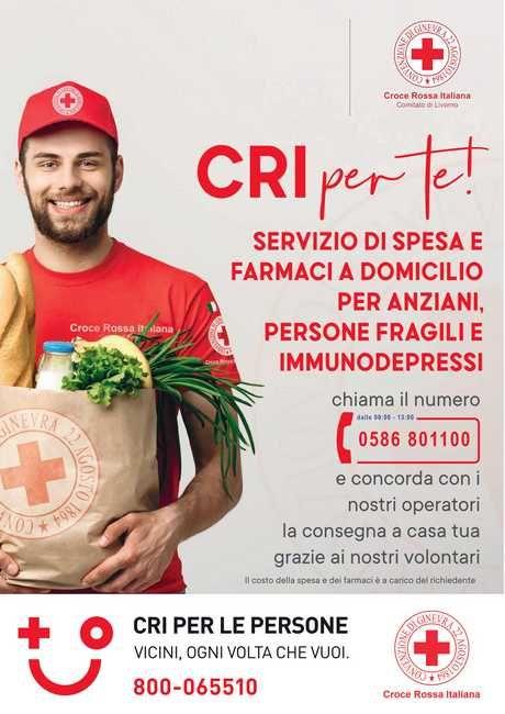 coronavirus croce rossa spesa e farmaci a casa