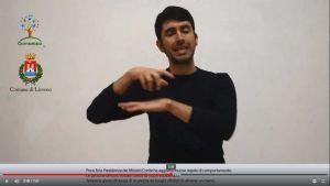 coronavirus informazioni nella lingua dei segni