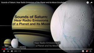 saturno encelado suoni nello spazio