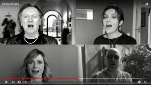 25 aprile, Arisa, Red Canzian, Mario Miondi e altri artisti cantano l'inno d'Italia con la banda della polizia