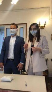 Malattie Infettive Livorno, fiori d'arancio per Giulia l'infermiera anti-Covid