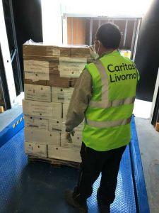 Tonnellate di generi alimentari alla Caritas di Livorno donati da MSC Foundation