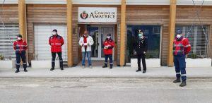 associazione Carabinieri Livorno dona 300 mascherine Amatrice