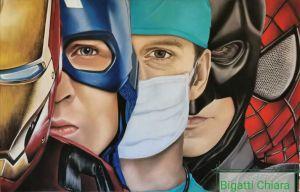 Quadro medici supereroi