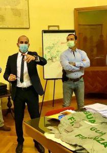 GdF Portoferraio Cap.Scimeca briefing prima dell'intervento