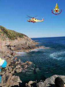 Romito: ragazzo soccorso con l'elicottero, il video del recupero