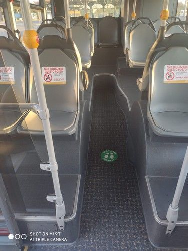 covid, fase2 i posti passeggeri sull'autobus