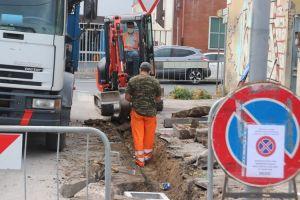 lavori stradali via Gobetti