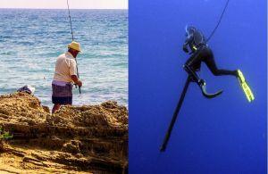 pesca da terra e subacquea
