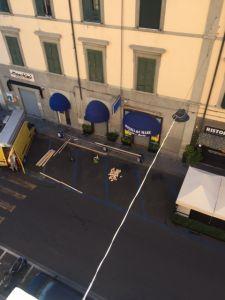 Borgo street, un tratto della strada interessato dal provvedimento della chiusura