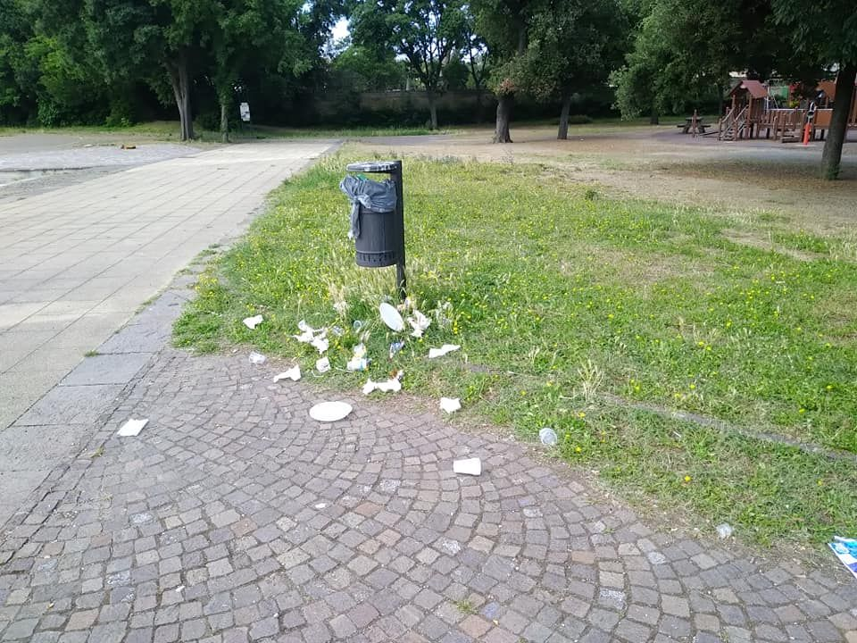 Inciviltà Una mattina al Parco Pertini