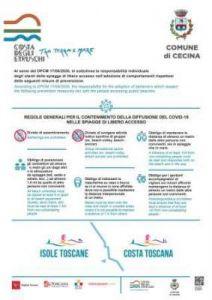 cecina spiagge regolamento anti covid