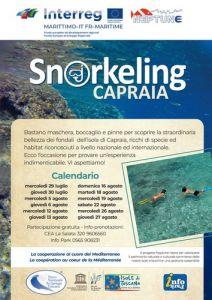 Capraia, 12 uscite di snorkeling gratuite con guida del parco. Le date