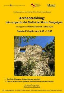 Gabbro, Archeotrekking alla scoperta dei Mulini del Botro Sanguigna. Evento gratuito