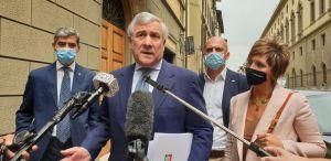 Jacopo Cellai con Antonio Tajani