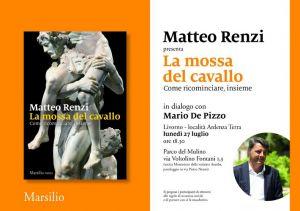 La mossa del cavallo, Renzi a Livorno per presentare il suo libro