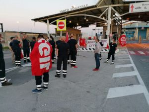 Porto i lavoratori della Fratelli Neri in presidio al varco Valessini (Foto)