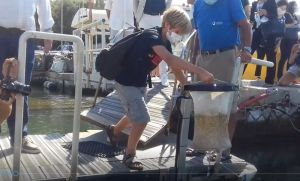Cestino Mangia Plastica LifeGate PlasticLess posizionato presso il Circolo Pesca N. Sauro