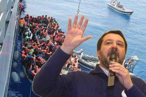 Covid, Matteo Salvini a San Vincenzo Italiani sotto ostaggio e i migranti fanno quello che vogliono, sputazzano e infettano