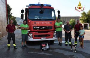 Donata una motopompa ai Vigili del Fuoco dell'Isola d'Elba