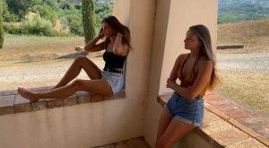 Due giovani livornesi protagoniste degli shooting di Miss Atre Moda Italia (Video)