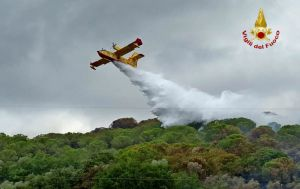 Incendio boschivo a Campiglia fiamme propagate alle colline, Intervengono anche elicotteri e canadair